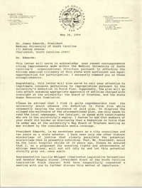 Letter from Robert Ford to James Edwards, May 26, 1994
