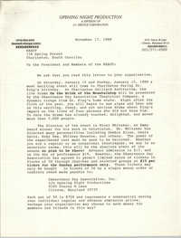Letter from Edward R. Downs, Jr. to Charleston Branch of the NAACP, November 17, 1988