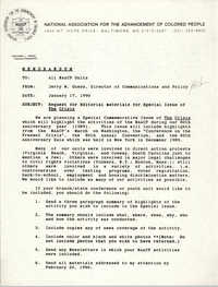 NAACP Memorandum, January 17, 1990