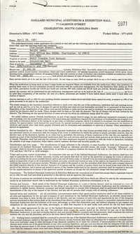 Gaillard Municipal Auditorium and Exhibit Hall Contract, September 7, 1991