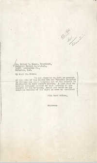 Letter to Butler W. Nance
