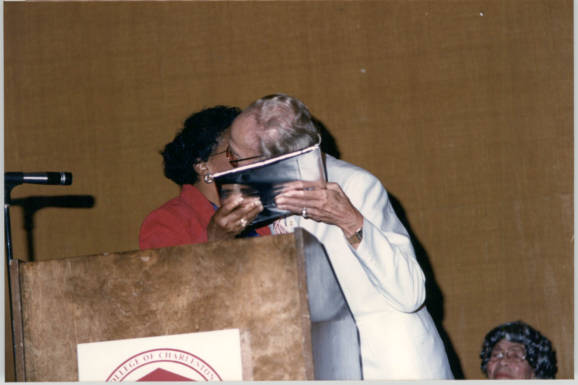 Photograph of Eugene C. Hunt and Lucille Whipper at a College of Charleston Event