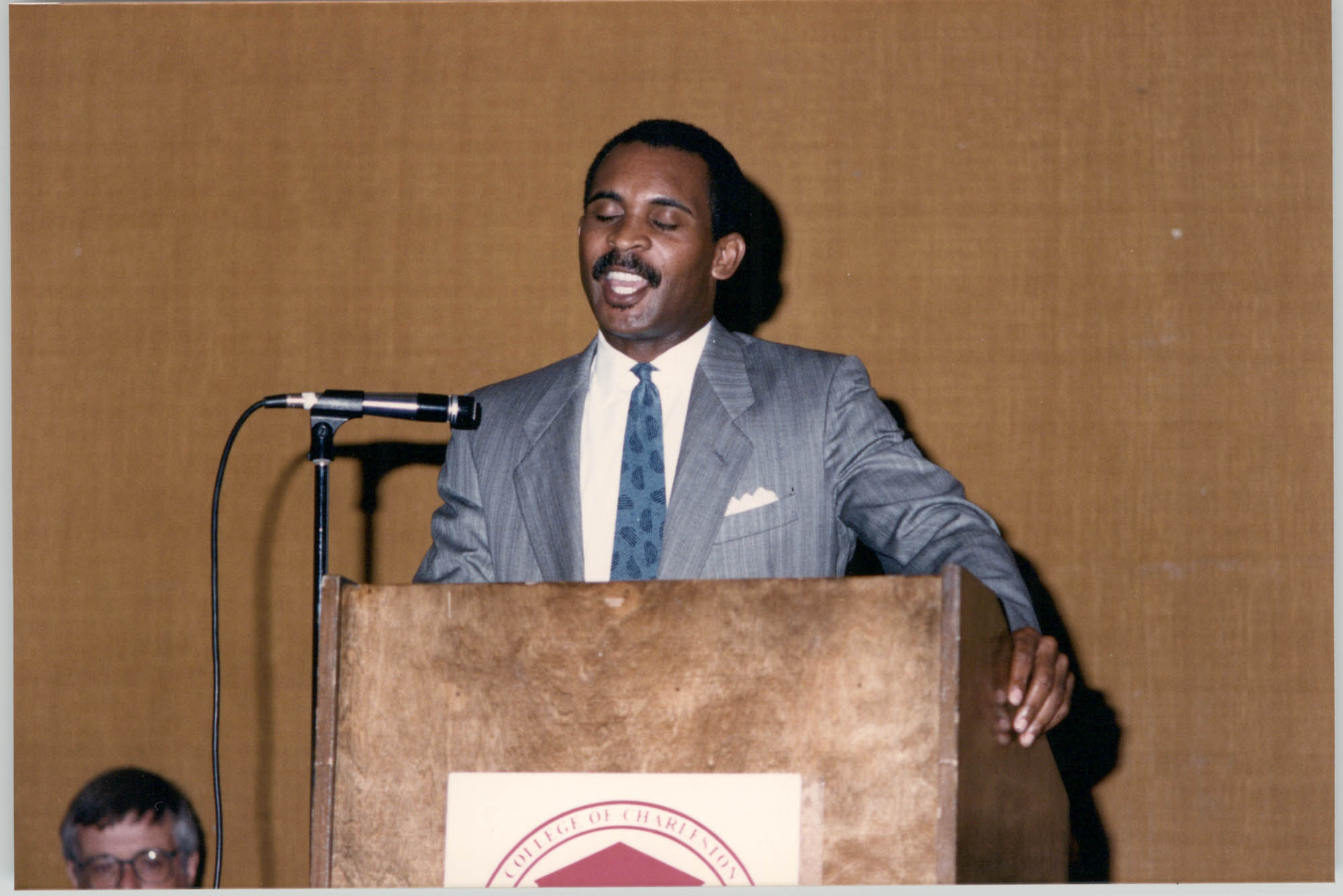 Photograph of Frank Portee at a College of Charleston Event