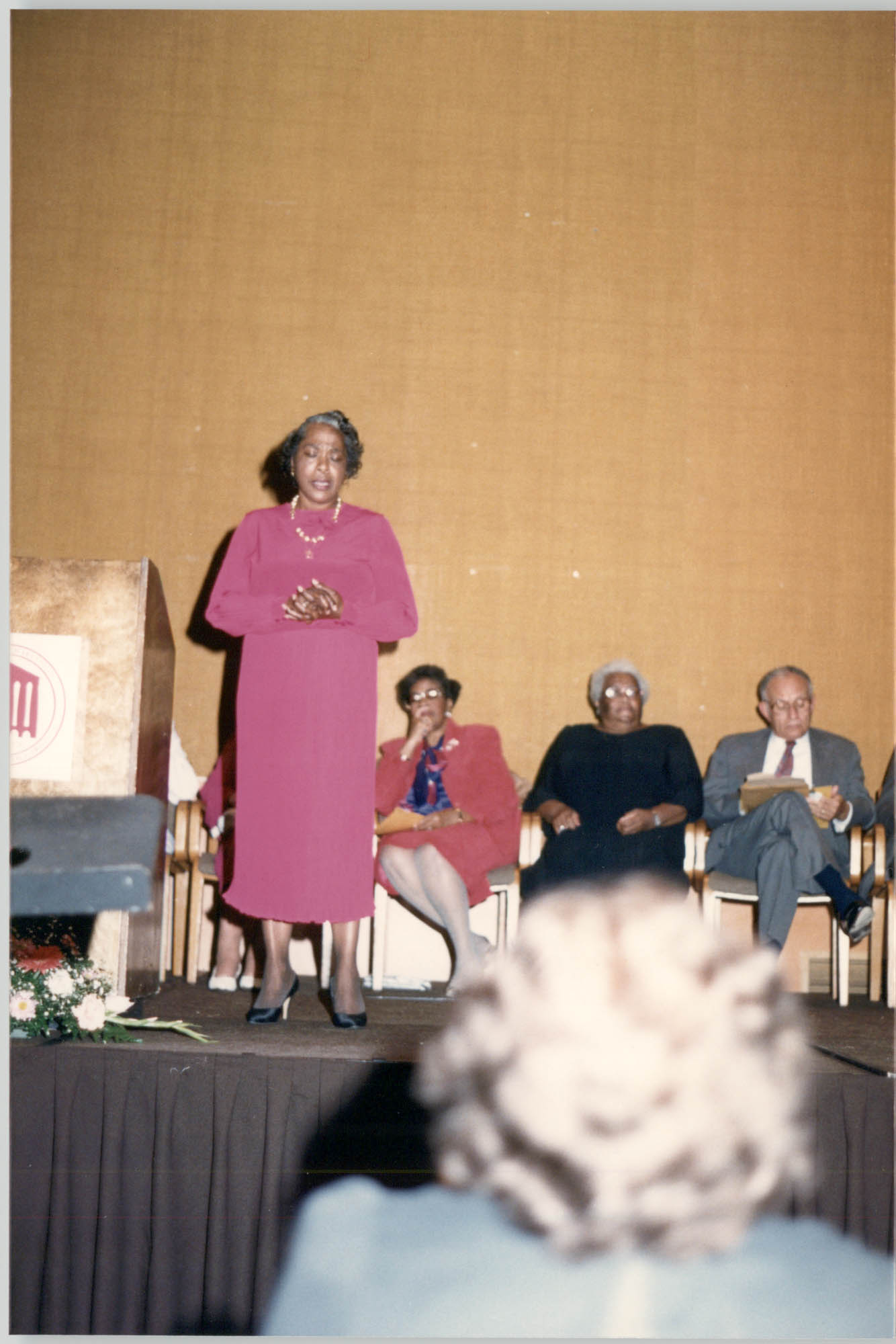 Photograph of Milred Carr at a College of Charleston Event