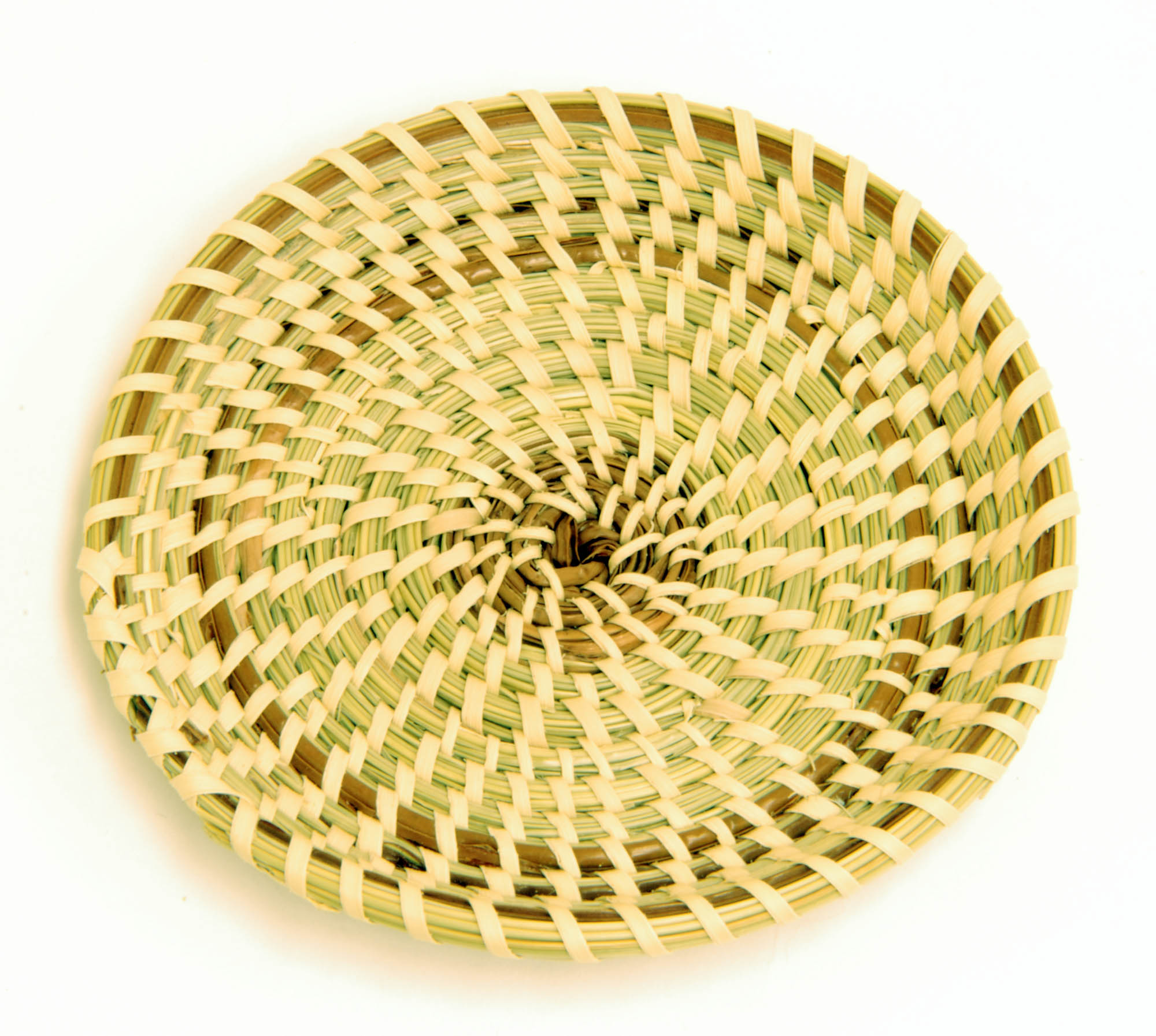 Miniature sweetgrass basket (Miniature fanner)
