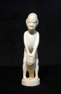 Ivory drummer carving