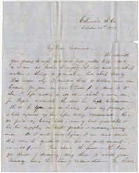 319.  Robert Woodward Barnwell to Catherine Osborn Barnwell -- October 25, 1850