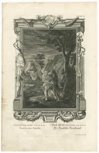 Genesis Cap. XXXII. v. 24.25.31.32 Lucta cum Angelo / I. Buch Mosis Cap. XXXII. v. 24.25.31.32 Der Englische Zweikampf