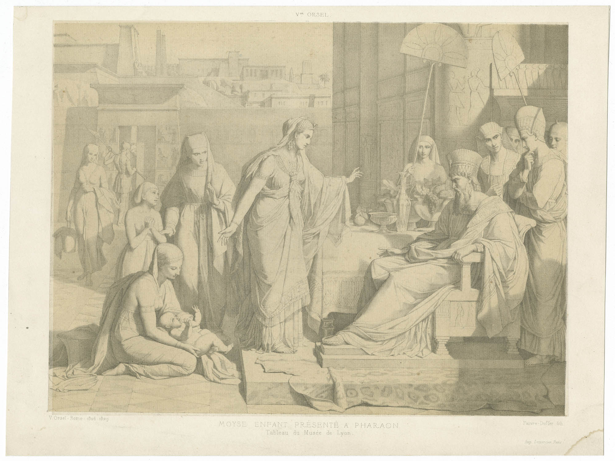 Moyse enfant présenté à Pharaon