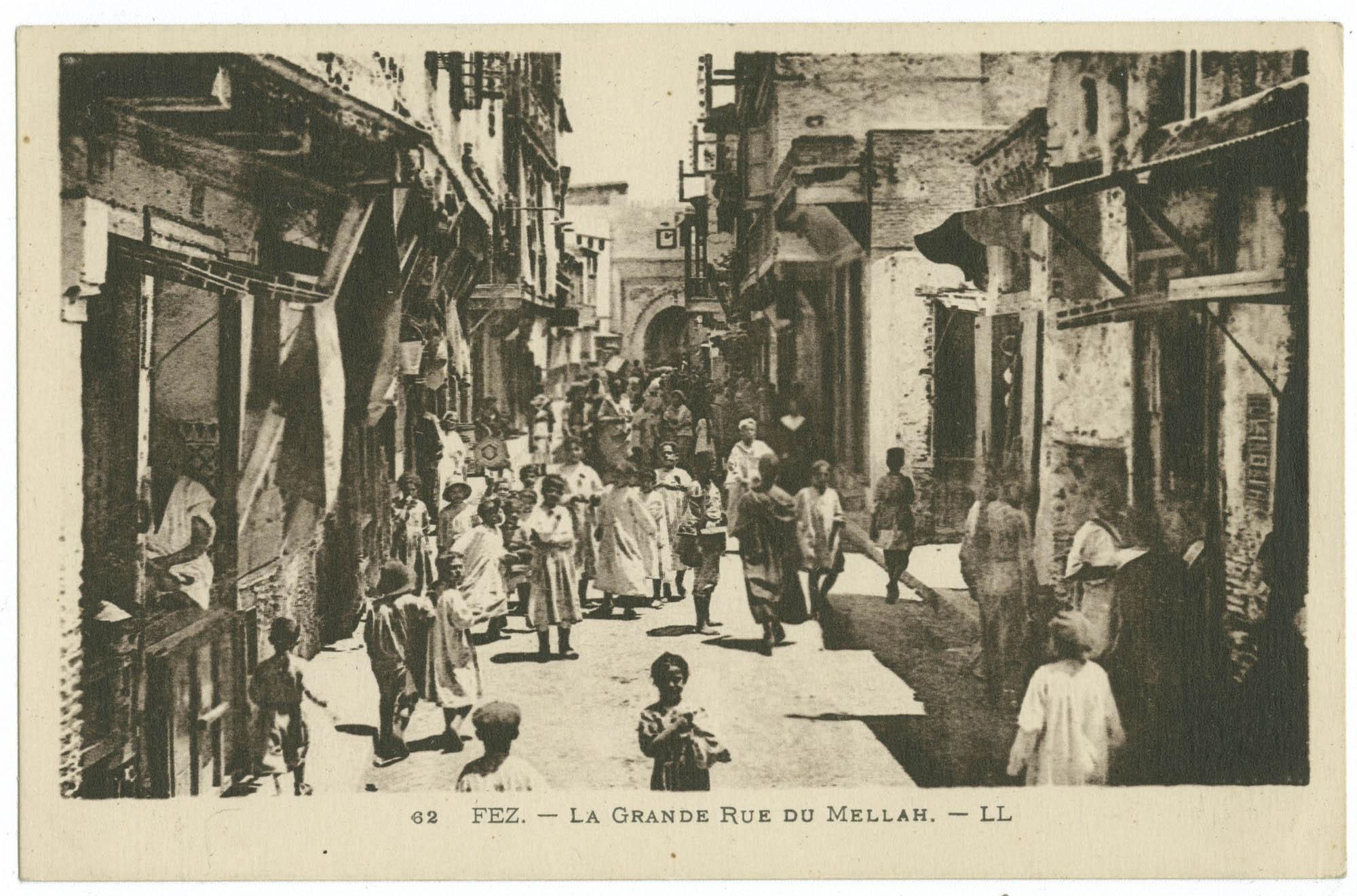 Fez. - La Grande Rue du Mellah.