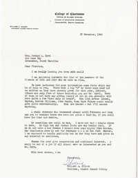 Letter from Willard Silcox, November 27, 1962