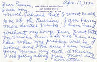 Note from Stella Pope, April 13, 1972