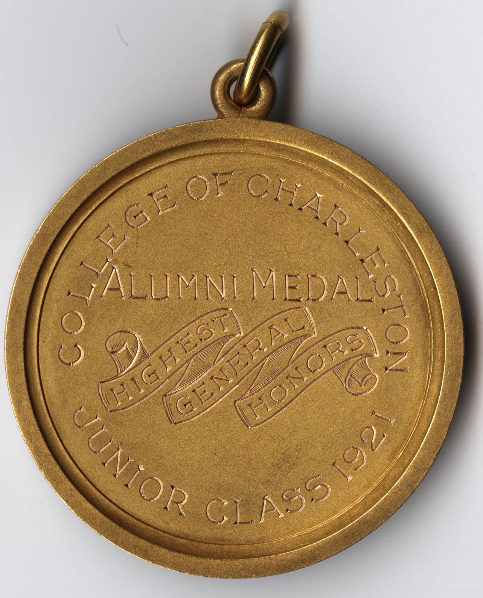 Alumni Medal for Highest General Honors, Junior Class 1921