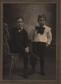 Photograph of George Byrd and his brother