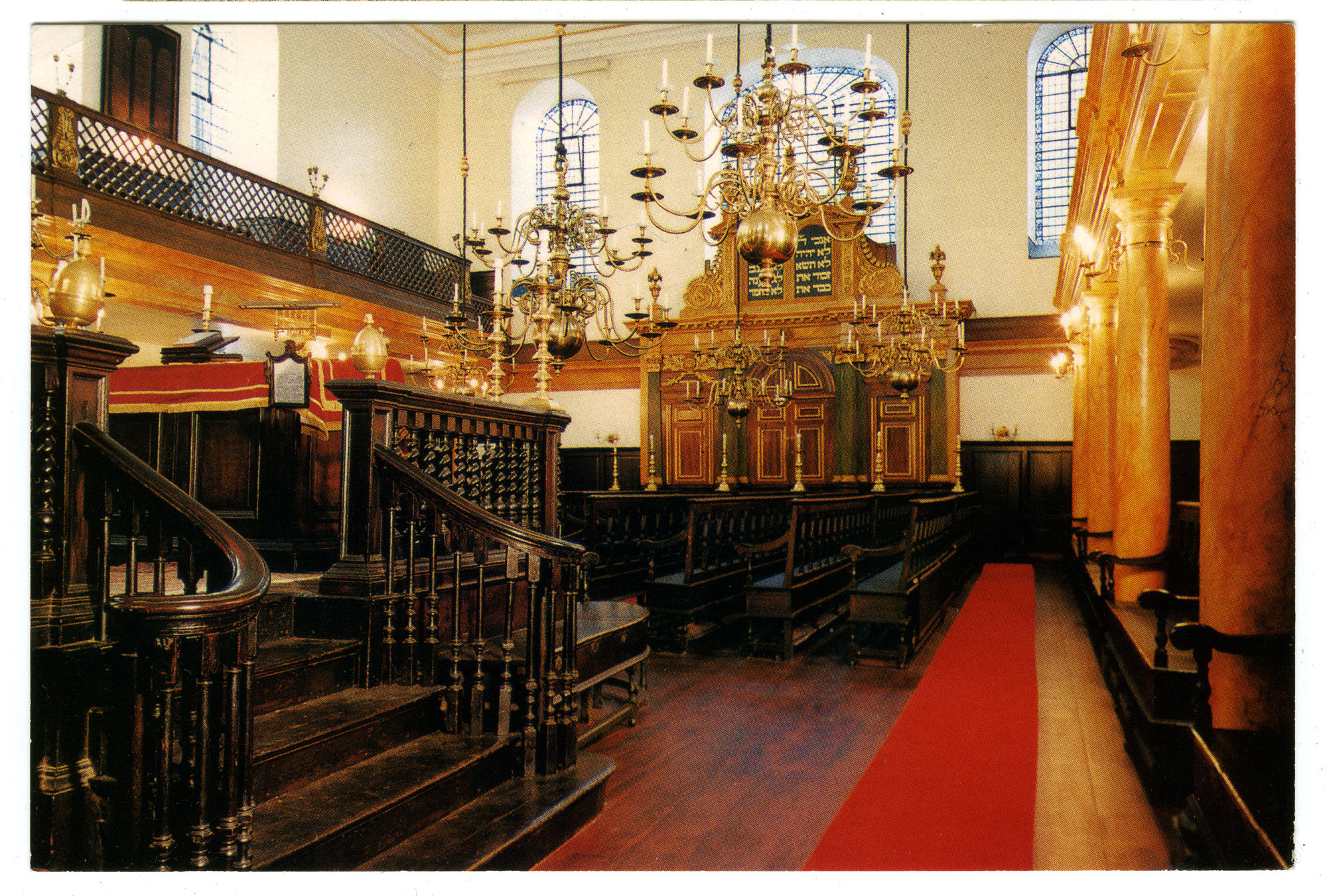 Interior of the Spanish and Portuguese Bevis Marks Synagogue, London