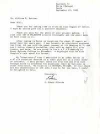 Letter from J. Edwin Ellerbe