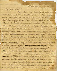 Letter from Charlotte Manigault to Miss Drayton