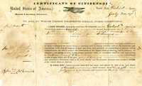 Certificate of citizenship, 1871 - McCormick, John, fl. 1871