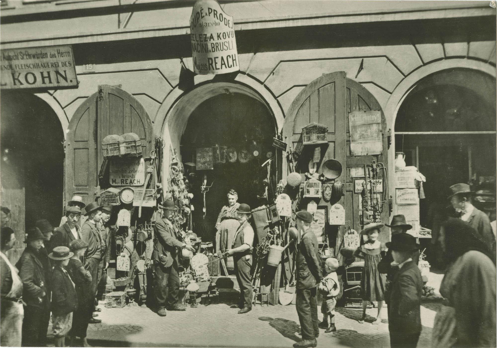 Pohled do pražského ghetta koncem 19. století