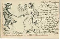 Zaszczytny taniec weselny. / Mützwe Hochzeits-Tänzchen.
