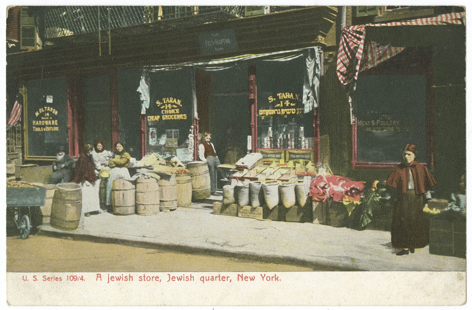 A Jewish store, Jewish quarter, New York