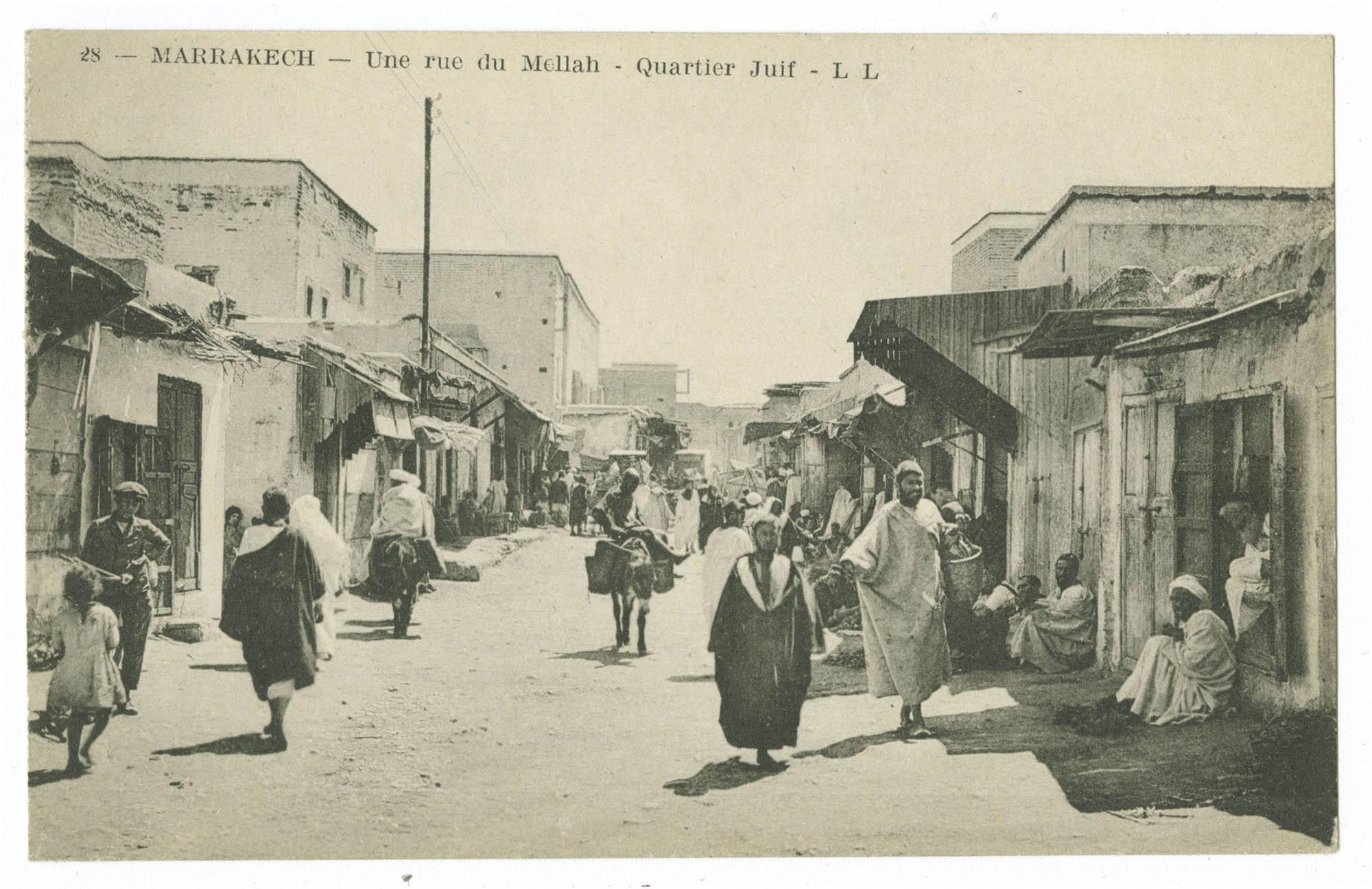MARRAKECH - Une rue du Mellah - Quartier Juif