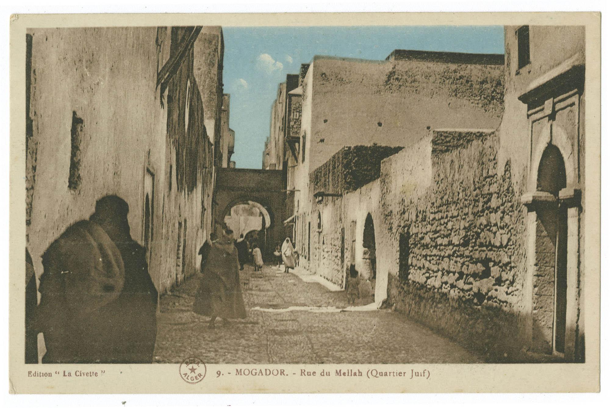 MOGADOR. - Rue du Mellah (Quartier Juif)