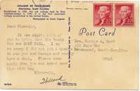 Postcard from Willard Silcox about Book Fair