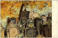Prag - Partie vom alten jüdischen Friedhofe
