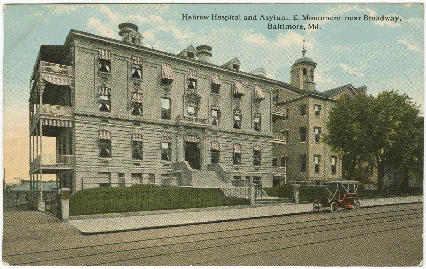 Hebrew Hospital and Asylum, E. Monument near Broadway. Baltimore, Md.