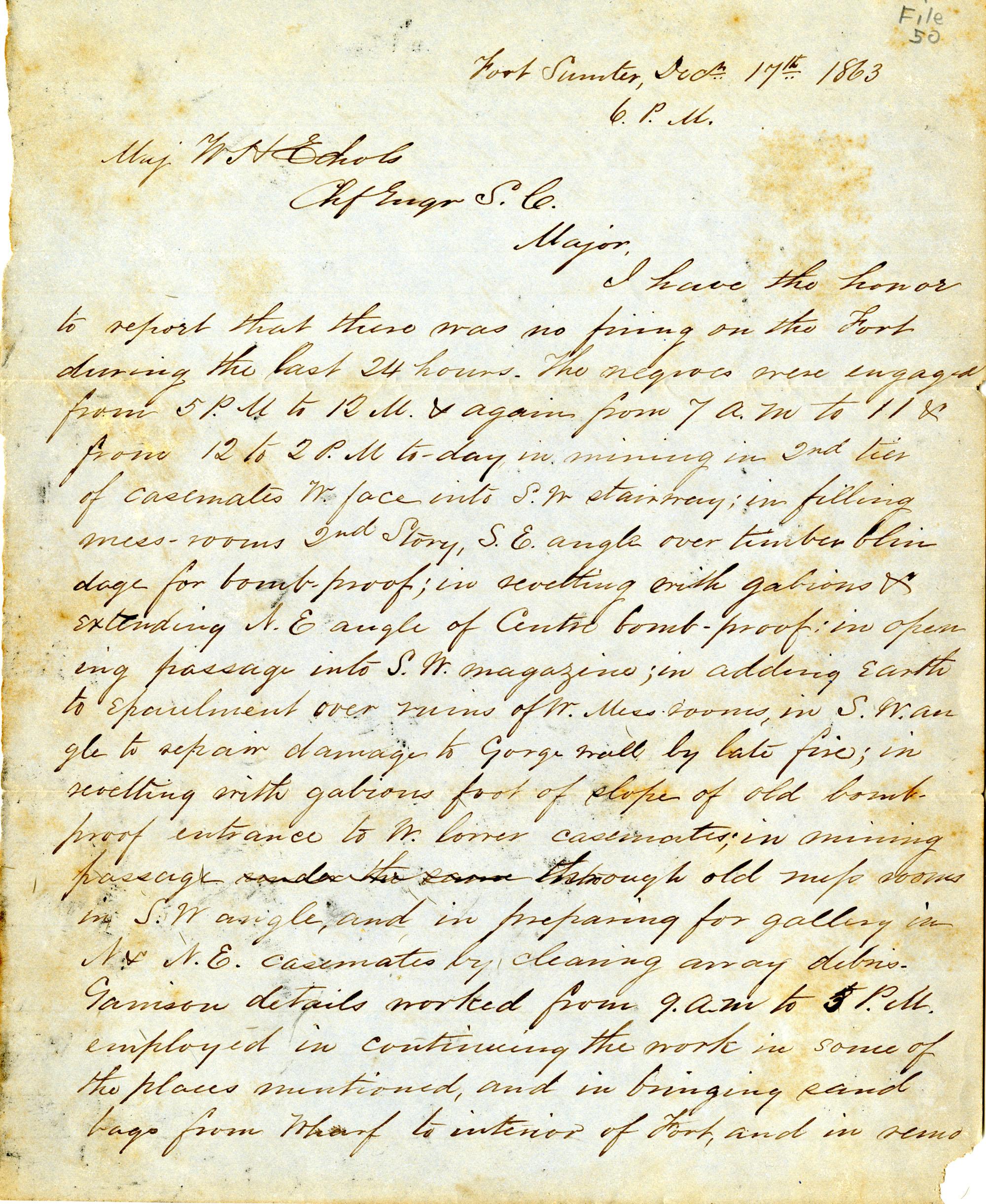 Letter, 17 December