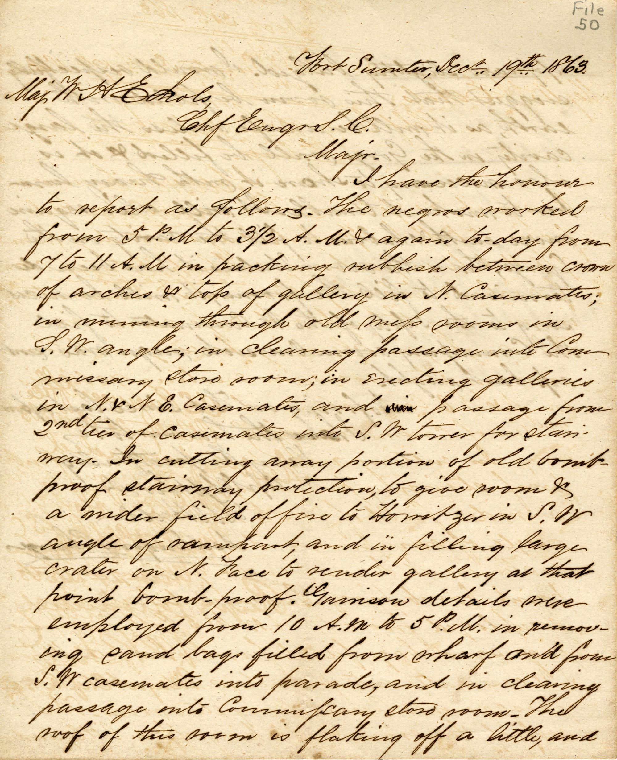 Letter, 19 December