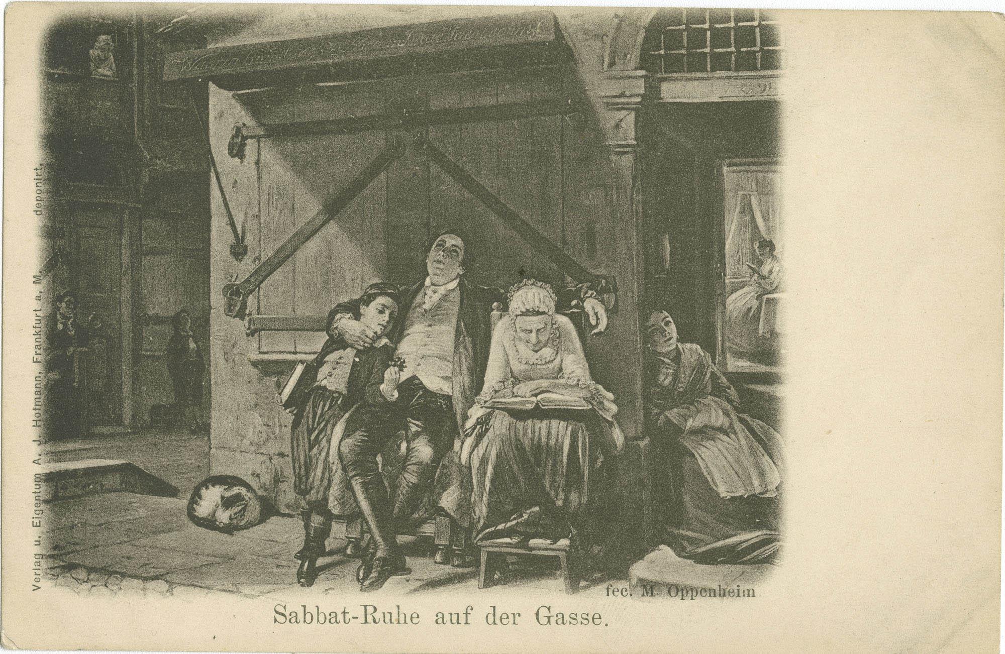 Sabbat-Ruhe auf der Gasse.
