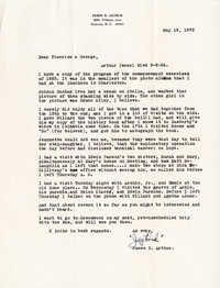 Letter from Jaybird Arthur, May 19, 1972