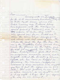 Unsigned letter about reunion