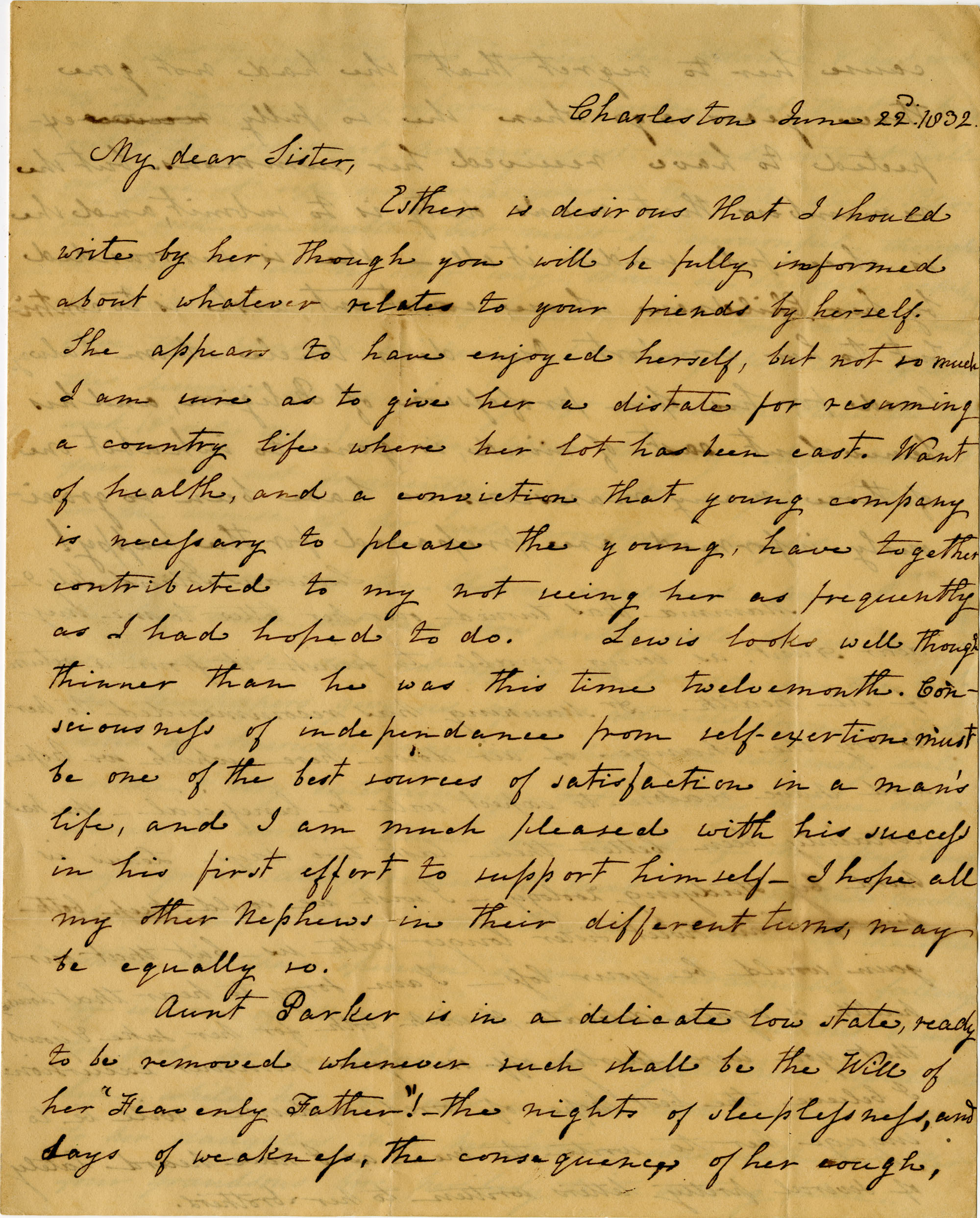 Letter from Charlotte Manigault and Ann  M. Taylor to Henrietta Drayton
