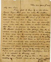 Letter from Charlotte Manigault to Henrietta Drayton, 1825