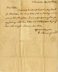 Letter from Charlotte Manigault to Henrietta A. Drayton, 1838