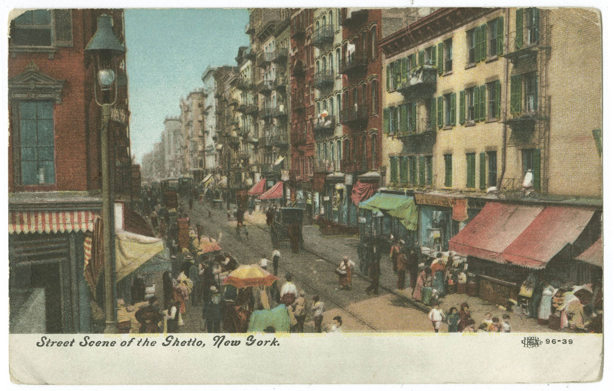 Street Scene of the Ghetto, New York