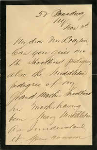 Letter from Charles Drayton Burrill Jr. to Charles H. Drayton