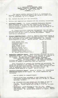 Minutes, South Carolina Conference of Branches of the NAACP, January 18, 1992