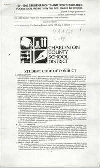 Charleston County School District, Student Code of Conduct