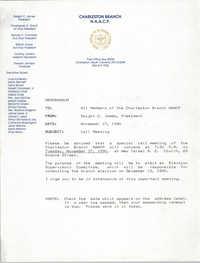 Charleston Branch of the NAACP Memorandum, November 19, 1990