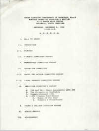 Agenda, South Carolina Conference of Branches of the NAACP, December 8, 1990