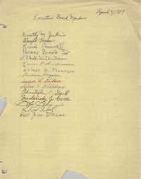 Sign-in Sheet, Charleston Branch of the NAACP, General Membership Meeting, April 4, 1989