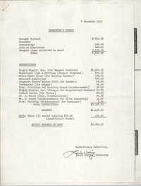 Charleston Branch of the NAACP Education Committee Treasurer's Report, December 6, 1979