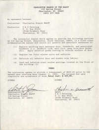 Charleston Branch of the NAACP Contract Agreement