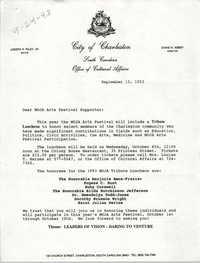 MOJA Arts Festival, Tribute Luncheon Invitation, September 13, 1993