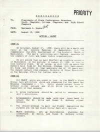 NAACP Memorandum, August 10, 1988
