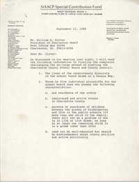 NAACP Special Contribution Fund Memorandum, September 21, 1988